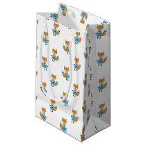 Forest Friends Fox All-Over Repeat Pattern Small Gift Bag