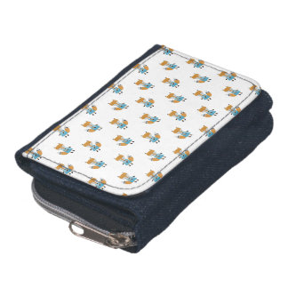 Forest Friends Fox All-Over Repeat Pattern Wallet