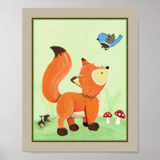 Forest Friends - Fox Poster