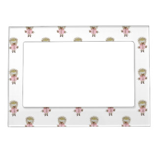 Forest Friends Hedgehog All Over Repeat Pattern Picture Frame Magnets