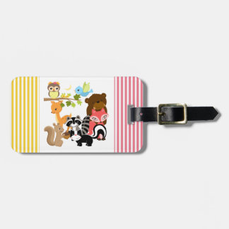 Forest Friends Travel Bag Tag