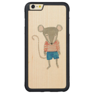 Forest Friends Mouse Carved® Maple iPhone 6 Plus Bumper