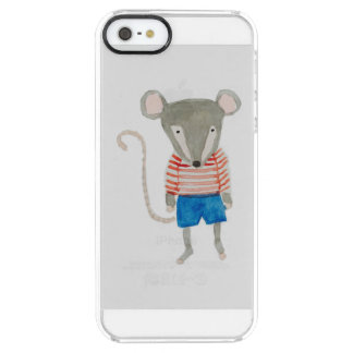 Forest Friends Mouse Clear iPhone SE/5/5s Case