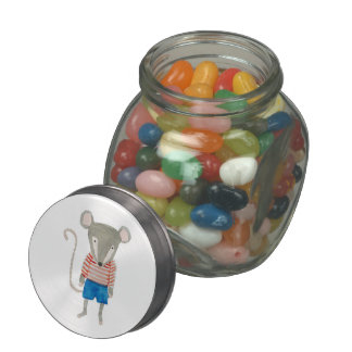 Forest Friends Mouse Glass Jars