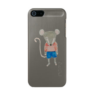 Forest Friends Mouse Metallic iPhone SE/5/5s Case