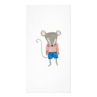 Forest Friends Mouse Photo Card