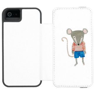 Forest Friends Mouse Wallet Case For iPhone SE/5/5s
