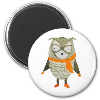 Forest Friends Owl 2 Inch Round Magnet