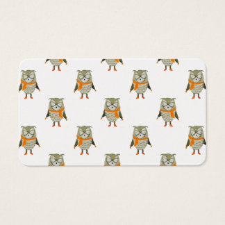 Forest Friends Owl All-Over Repeat Pattern Business Card