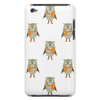 Forest Friends Owl All-Over Repeat Pattern iPod Touch Cases