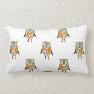 Forest Friends Owl All-Over Repeat Pattern Pillows