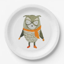 Forest Friends Owl Paper Plate