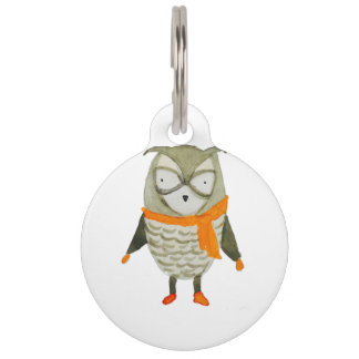 Forest Friends Owl Pet Tag