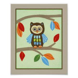 Forest Friends - Owl Poster