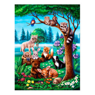 Forest Friends Postcard