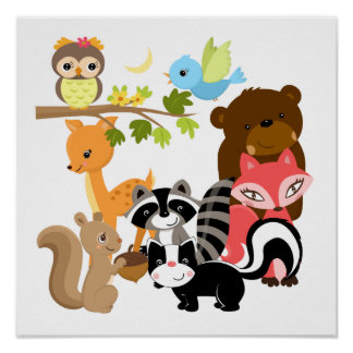 Forest Friends Poster