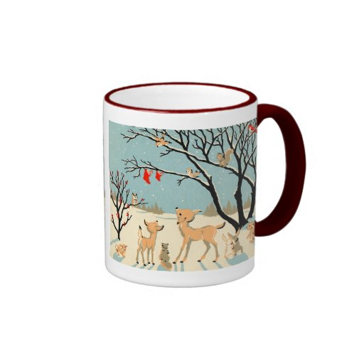 Forest Friends Ringer Coffee Mug