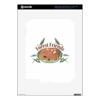 Forest Friends iPad 3 Decals