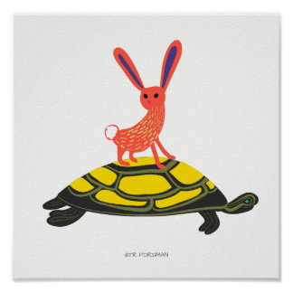 Forest friends.Turtle bunny print for kids