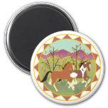 Forest Frolic Equestrian Magnet