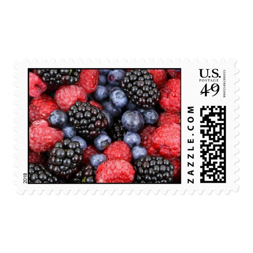 Forest Fruits Postage Stamps