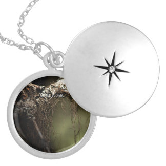 Forest Fuzz; Customizable Silver Plated Necklace