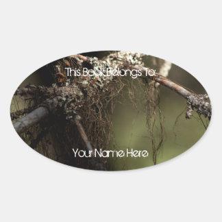 Forest Fuzz Oval Sticker