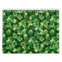Forest geometric camouflage calendar