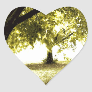 Forest Ghostly Sunshine Heart Sticker