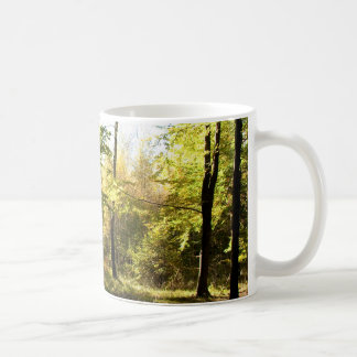 Forest glade classic white coffee mug