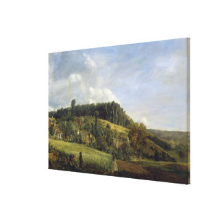 Forest Glade near a Village, 1833 Canvas Print