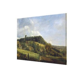 Forest Glade near a Village, 1833 Canvas Print