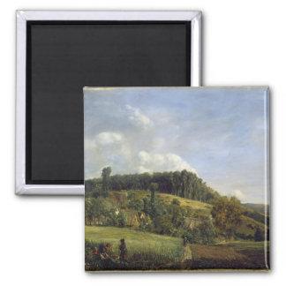 Forest Glade near a Village, 1833 Magnet