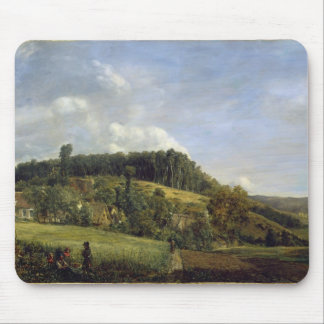 Forest Glade near a Village, 1833 Mouse Pad