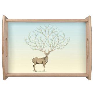 Forest god to deer elegant rural large serving tra serving tray