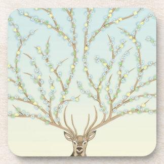Forest god to deer, six elegant rural coasters |