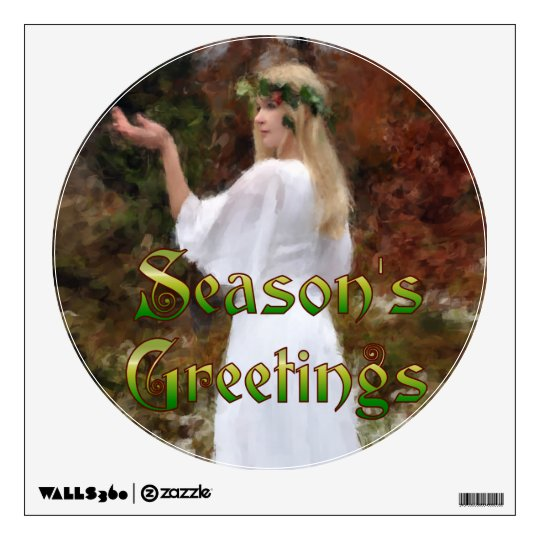 Forest Goddess - Season's Greetings Wall Decal