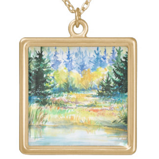 Forest Gold Plated Necklace
