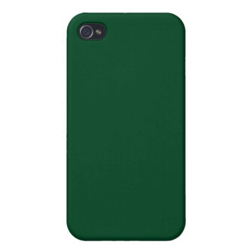 Forest Green 4  iPhone 4 Cover