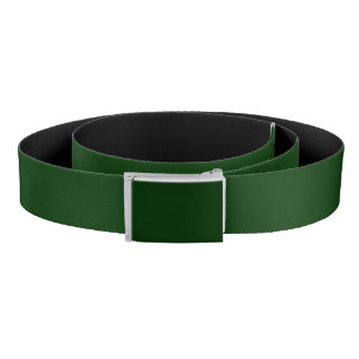 Forest Green Accent Color Ready to Customize Belt