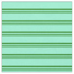 [ Thumbnail: Forest Green and Aquamarine Colored Lines Fabric ]