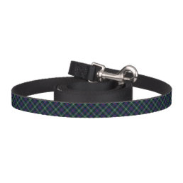 Forest Green and Blue Malcolm Clan Scottish Plaid Pet Leash