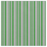 [ Thumbnail: Forest Green and Dark Grey Stripes/Lines Pattern Fabric ]