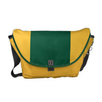 Forest Green and Gold Messenger Bag