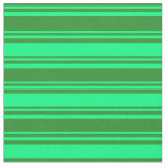 [ Thumbnail: Forest Green and Green Lines Pattern Fabric ]