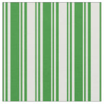 [ Thumbnail: Forest Green and Light Yellow Colored Lines Fabric ]