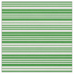 [ Thumbnail: Forest Green and Light Yellow Pattern Fabric ]