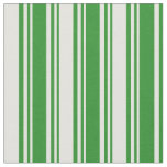 [ Thumbnail: Forest Green and Light Yellow Striped Pattern Fabric ]