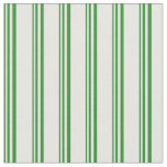 [ Thumbnail: Forest Green and Mint Cream Colored Pattern Fabric ]