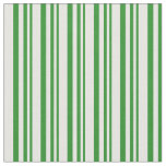 [ Thumbnail: Forest Green and Mint Cream Striped/Lined Pattern Fabric ]